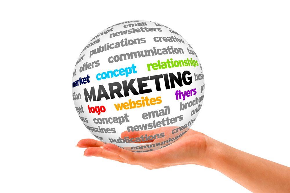 Marketing logo including web design, websites and flyers